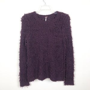Free People Plum Fuzzy Sweater